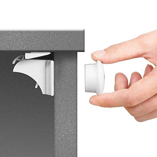 Toplus Baby Safety Magnetic Cabinet Locks - No Tools Or Screws Needed (6 Locks + 2 Keys)