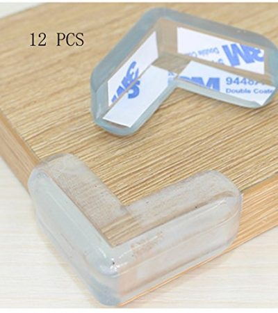 Transparent Anti-Collision (12 Pack) Clear Corner Edge Guards,Kids Protectors,Furniture Guard, Baby Bumper Clear Corner Guards with 3M Adhesive