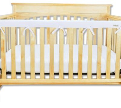 Trend-Lab-Fleece-CribWrap-Rail-Cover-for-Long-Rail-White-Narrow-for-Crib-Rails-Measuring-up-to-8-Around-0