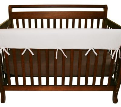 Trend-Lab-Fleece-CribWrap-Rail-Cover-for-Long-Rail-White-Wide-for-Crib-Rails-Measuring-up-to-18-Around-0