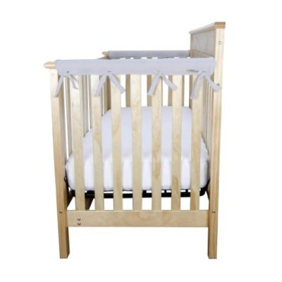 Trend-Lab-Fleece-CribWrap-Rail-Covers-for-Crib-Sides-Set-of-2-Gray-Narrow-for-Crib-Rails-Measuring-up-to-8-Around-0-3