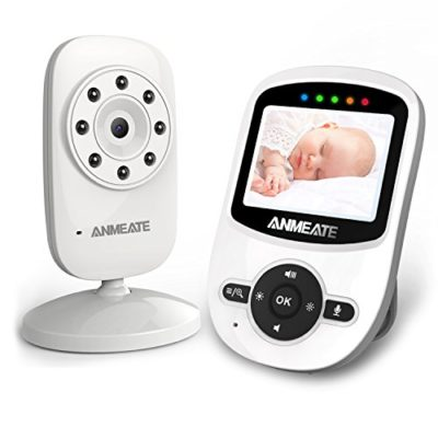 Video-Baby-Monitor-with-Digital-Camera-ANMEATE-Digital-24Ghz-Wireless-Video-Monitor-with-Temperature-Monitor-960ft-Transmission-Range-2-Way-Talk-Night-Vision-High-Capacity-Battery-0