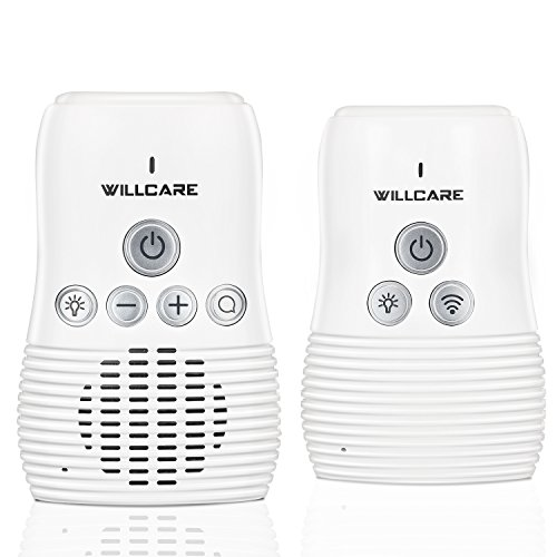 Willcare Baby Monitor Audio with Two-Way Talking, Baby Night Light, Battery Operated Parent Unit and Long Range.