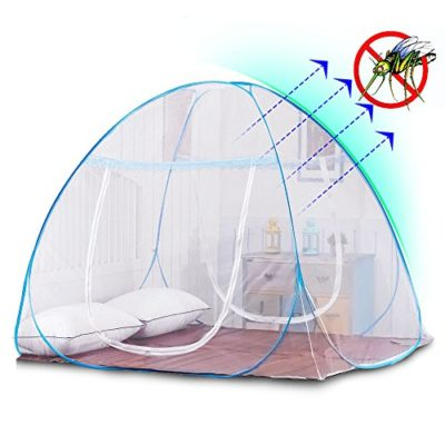 Yoosion-Anti-Mosquito-Nets-Pop-Up-Mosquito-Net-Bed-Tent-with-Bottom-200L180W150H-Mosquito-Nettings-Folding-Portable-for-Baby-Toddlers-Kids-Adult-0