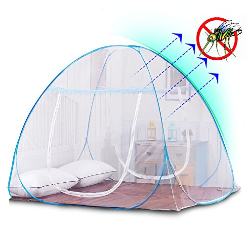 Yoosion Anti Mosquito Nets Pop Up Mosquito Net Bed Tent with Bottom 200(L)*180(W)*150(H) Mosquito Nettings Folding Portable for Baby Toddlers Kids Adult