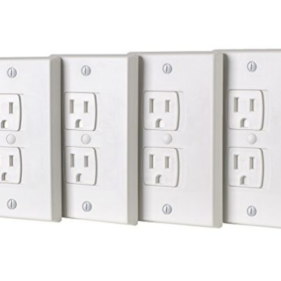 ZizHome-Universal-Electric-Outlet-Cover-Self-Closing-Baby-Proofing-Kit-Tamper-Proof-Child-Safety-Wall-Socket-Plug–Durable-ABS-Plastic-Best-House-Protection-Kit-4-Pack-0