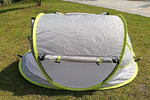 baby travel bed Portable baby beach tent ... & baby travel bed Portable baby beach tent UPF 50+ sun shelter pop ...