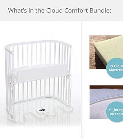 babybay Bedside Sleeper Cloud Comfort Bundle in Purist (White)