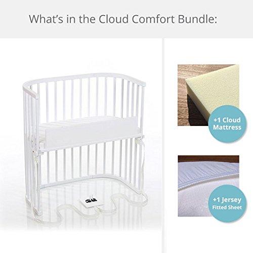babybay Bedside Sleeper Cloud Comfort Bundle in Purist (White)