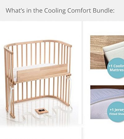 babybay Bedside Sleeper Cooling Comfort Bundle in Trendsetter (Light Gloss)