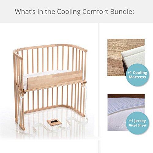 babybay Bedside Sleeper Cooling Comfort Bundle in Trendsetter (Light Gloss)