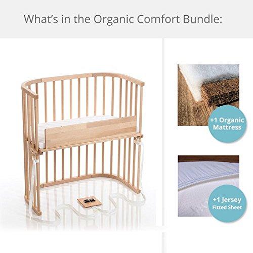 babybay Bedside Sleeper Organic Comfort Bundle in Trendsetter (Light Gloss)