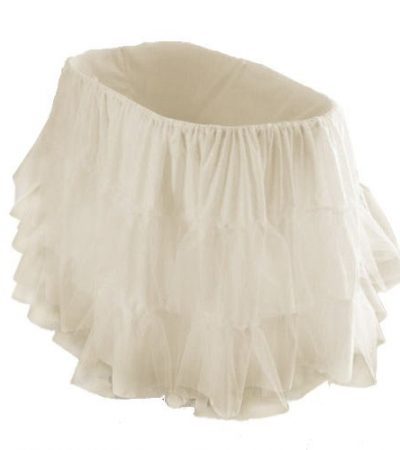 "bkb Bassinet Petticoat, Ecru, 13"" x 29"""