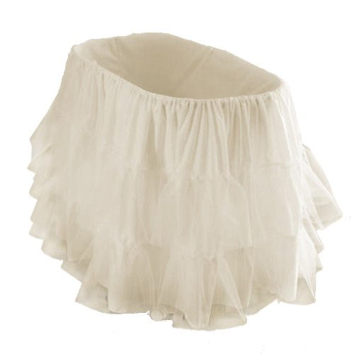 "bkb Bassinet Petticoat, Ecru, 16"" x 32"""