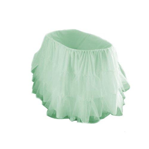 "bkb Bassinet Petticoat, Green, 16"" x 32"""