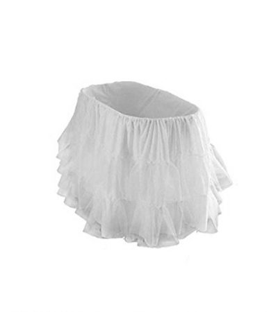 "bkb Bassinet Petticoat, Grey, 13"" x 29"""