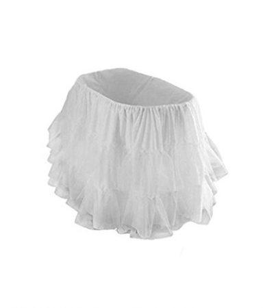 "bkb Bassinet Petticoat, Grey, 16"" x 32"""
