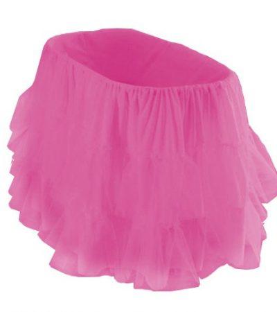 """bkb Bassinet Petticoat, Hot Pink, 16"""" x 32"""""""