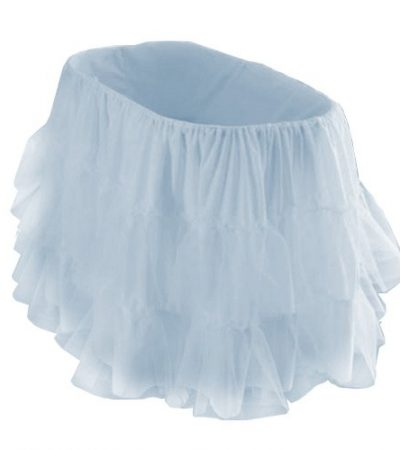 "bkb Bassinet Petticoat, Light Blue, 13"" x 29"""