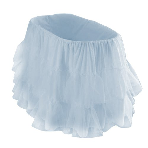 "bkb Bassinet Petticoat, Light Blue, 16"" x 32"""