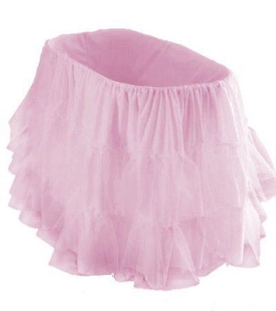 "bkb Bassinet Petticoat, Pink, 13"" x 29"""