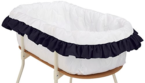 bkb Solid Color Bassinet Bumper, Navy, Large