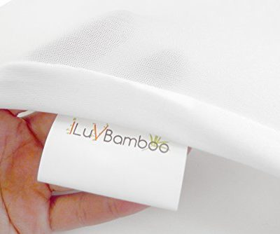 iLuvBamboo-Mattress-Pad-Cover-for-Hourglass-Shape-Baby-Bassinet-Mattress-with-Secure-Envelope-Design–Silky-Soft-Sheets-Waterproof-Bedding-Made-of-Bamboo-0-3