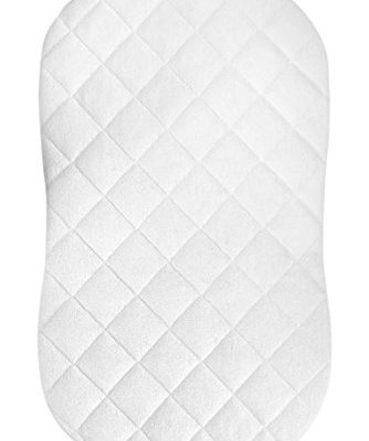 iLuvBamboo-Mattress-Pad-Cover-for-Hourglass-Shape-Baby-Bassinet-Mattress-with-Secure-Envelope-Design–Silky-Soft-Sheets-Waterproof-Bedding-Made-of-Bamboo-0