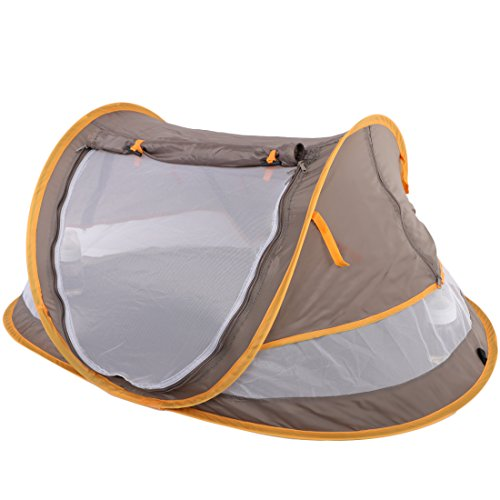 kilofly Baby Toddler (Medium) Instant Pop Up UPF 35+ Travel Beach Tent + 2 Pegs